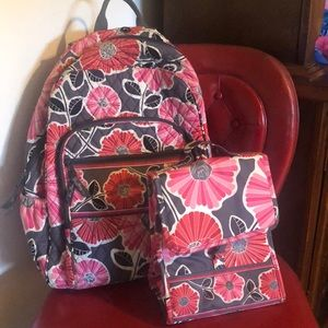Vera Bradley Backpack and Lunchbox Set